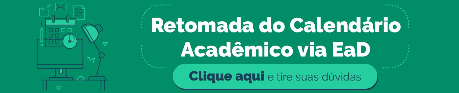 Retomada do Calendário Acadêmico via EaD