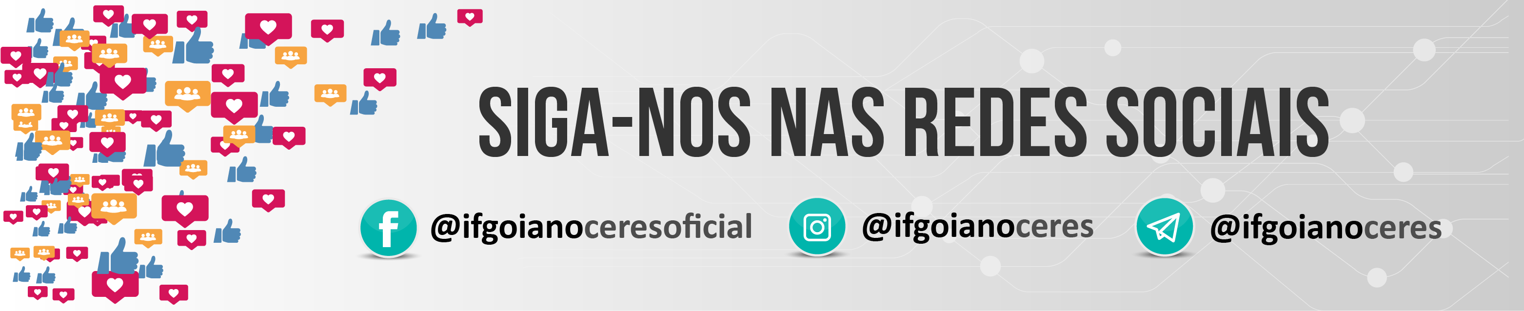 Redes sociais do Campus Ceres