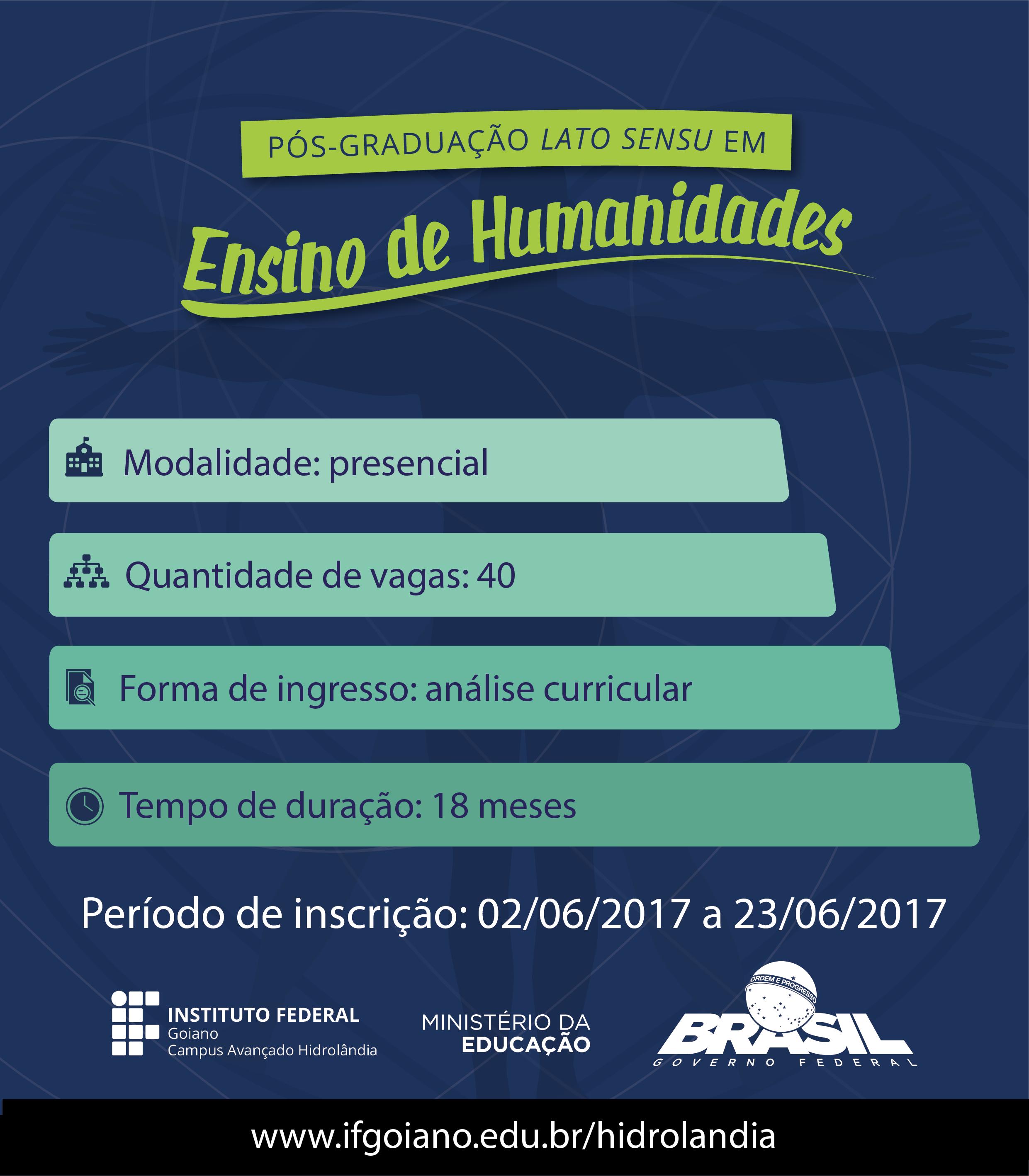 P s gradua o gratuita em ensino de humanidades