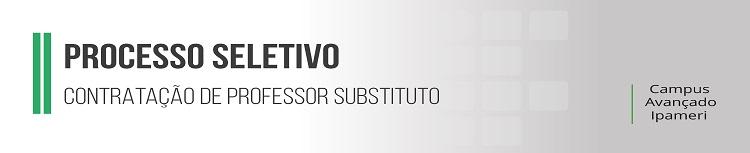 Processo Seletivo Simplificado para Contratação de Professor Substituto em Educação Física