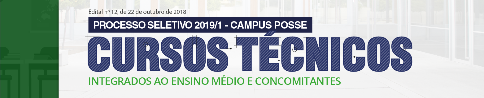 Processo Seletivo Cursos Técnicos 2019/1