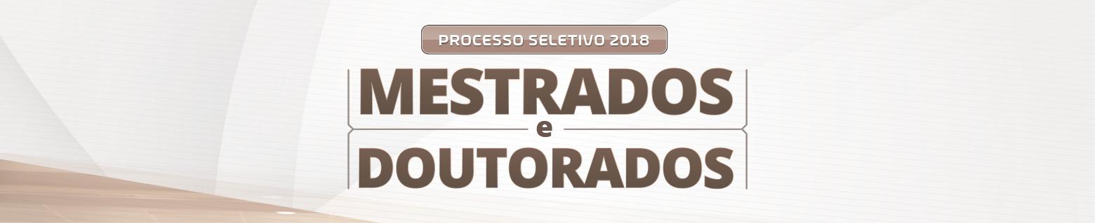 Seleção mestrados e doutorado 2018-2