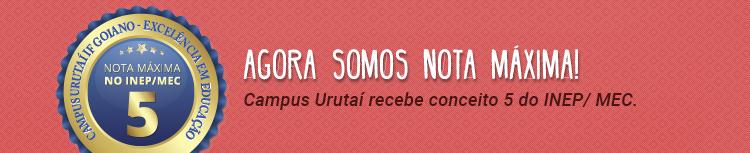 Nota 5 MEC/INEP
