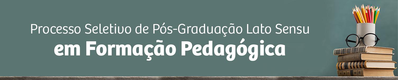 Seleção Pós em Formação Pedagógica em EPT