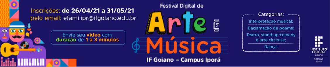 Festival de Arte e Música do If Goiano Campus Iporá