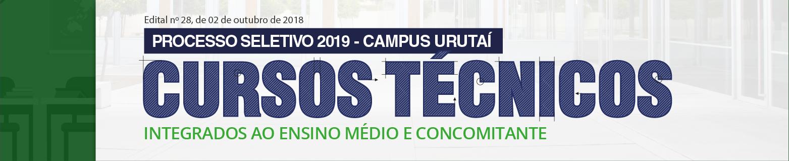 Processo seletivo cursos técnicos 2019